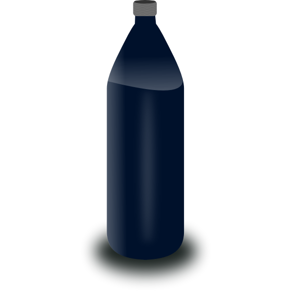Black water bottle vector clip art