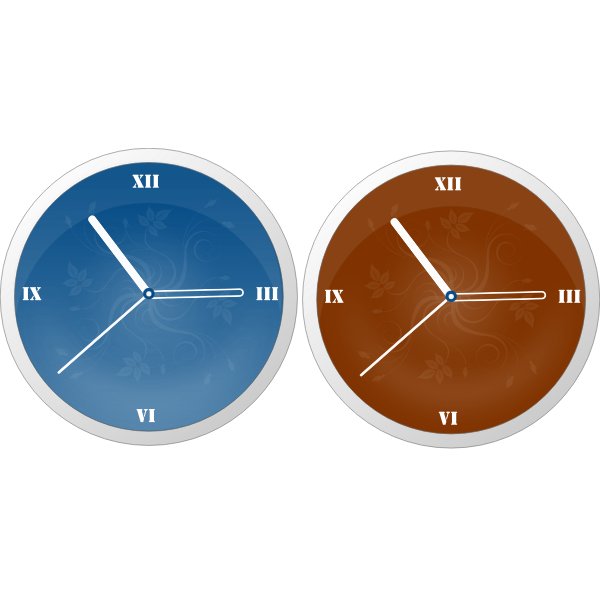 Modern clocks vector graphics