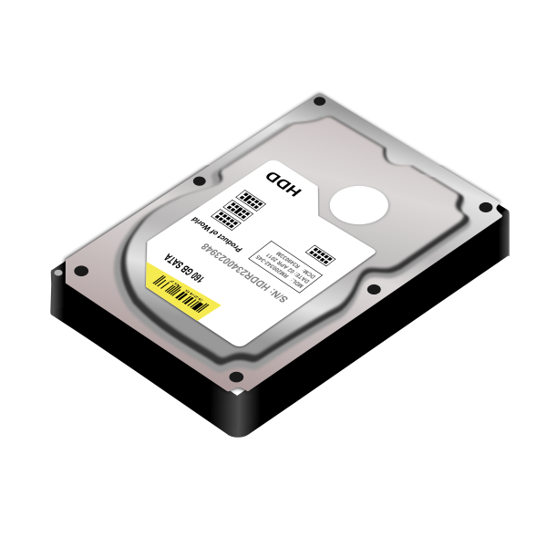 HDD hard disk vector image