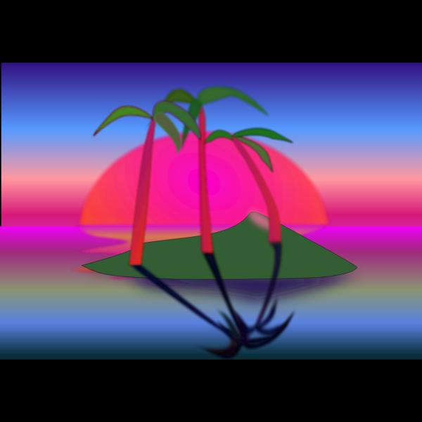 Tree Palms at Sunset