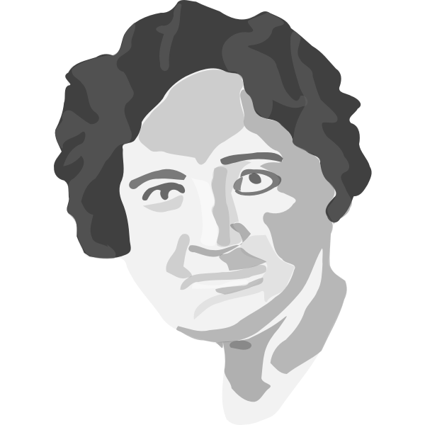 Nellie McClung vector portrait