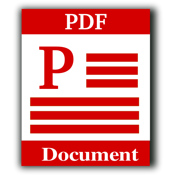 Vector graphics of PDF document computer OS icon
