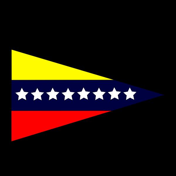 Venezuelan flag triangular sticker vector image