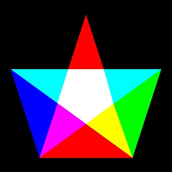 Pentagon in color