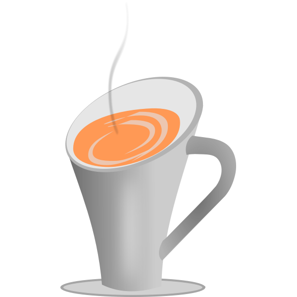 Hot drink in a cup vector graphics