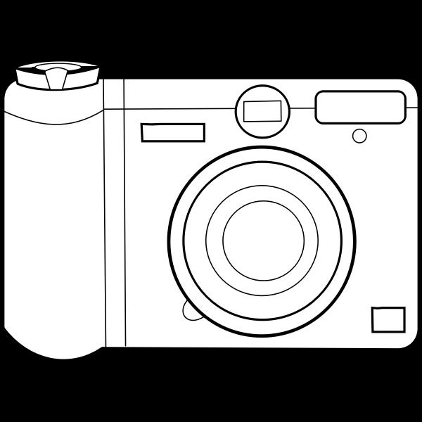 digital camera line art vector graphics