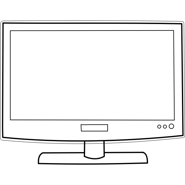 Flat screen television set vector image