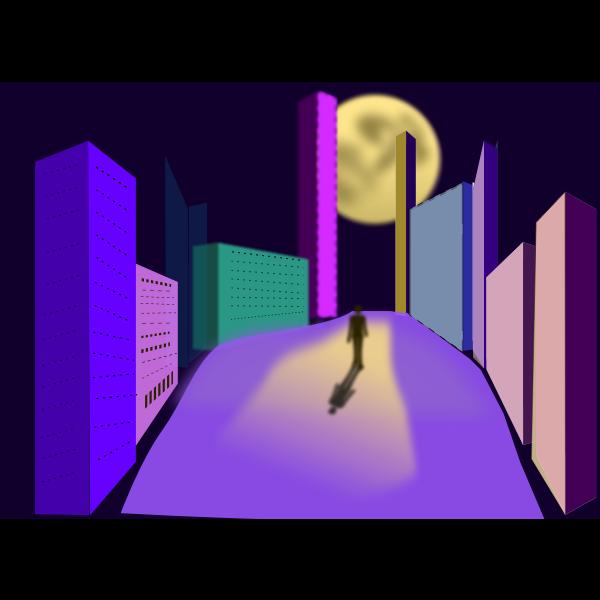 Night walk image