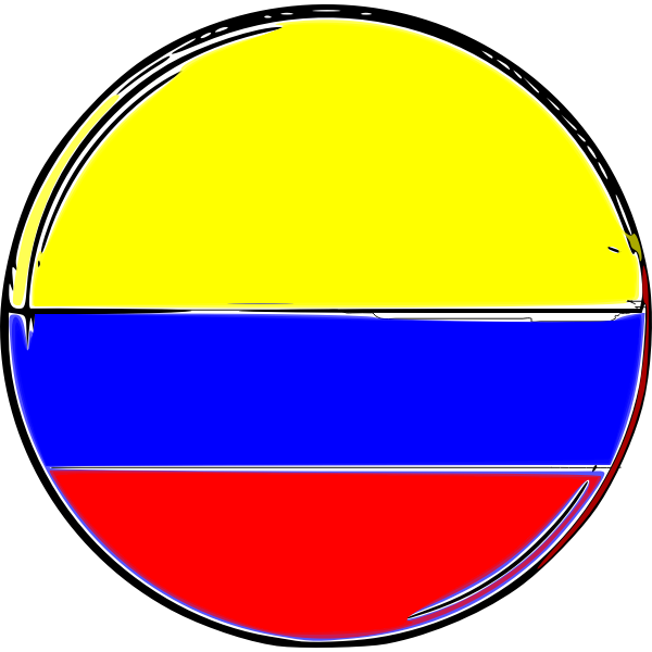 Colombian flag round shape