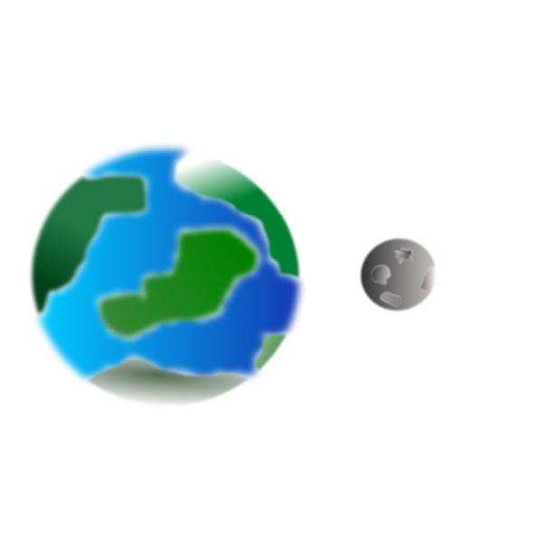 Planet with moon