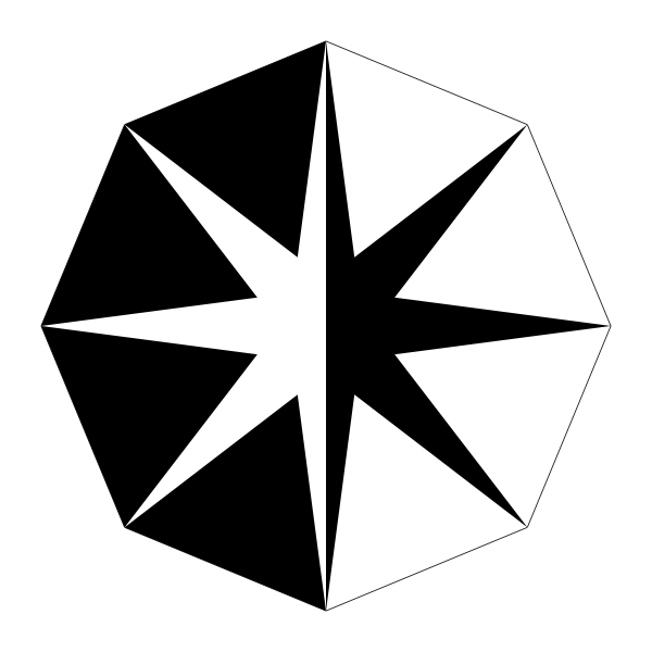 Triangle octogram