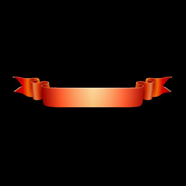 Orange ribbon vector drawing