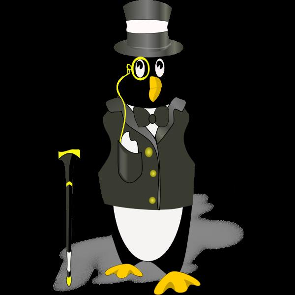 Penguin in tux