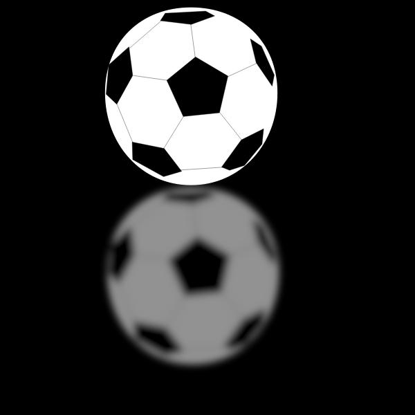 Vector image of a soccer ball