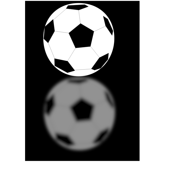 Vector image of a soccer ball