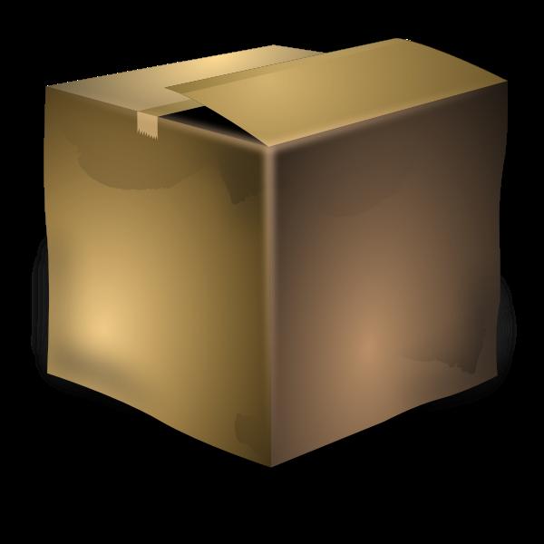 Vector image of used brown cardboard box