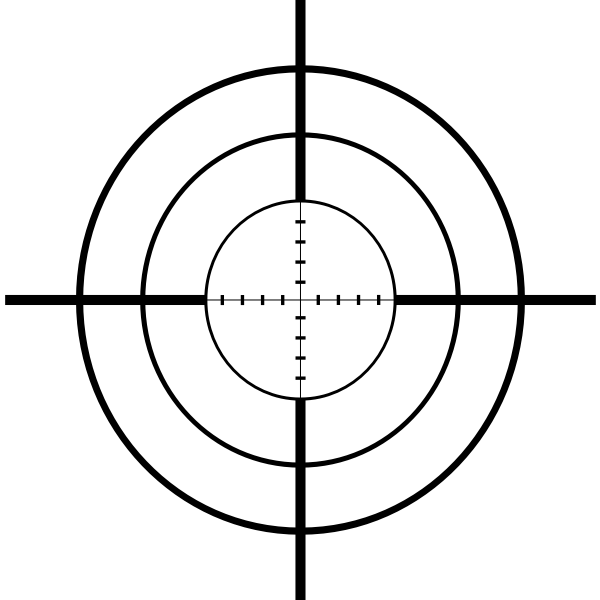 Sniper crosshairs vector drawing