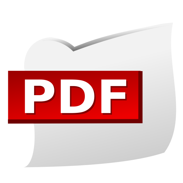 PDF document icon vector clip art