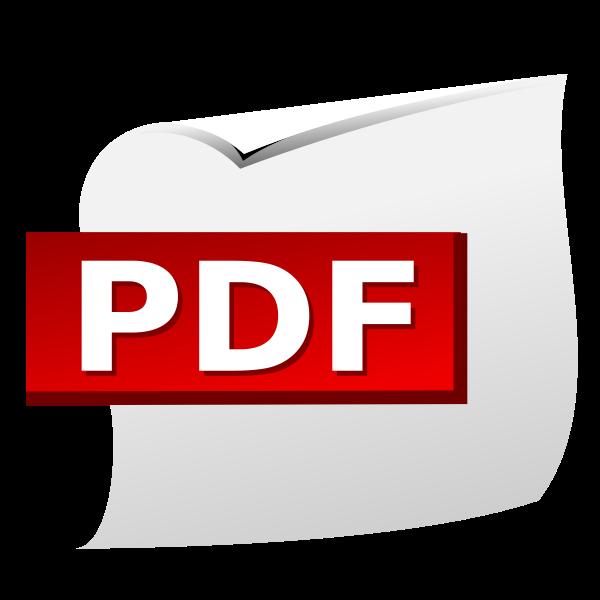 PDF document icon vector clip art