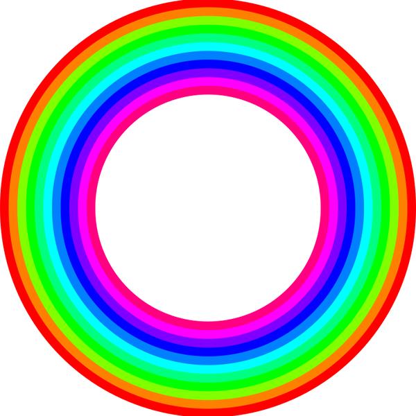 12 color rainbow donut