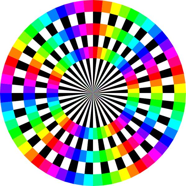 Color wheel clip art graphics