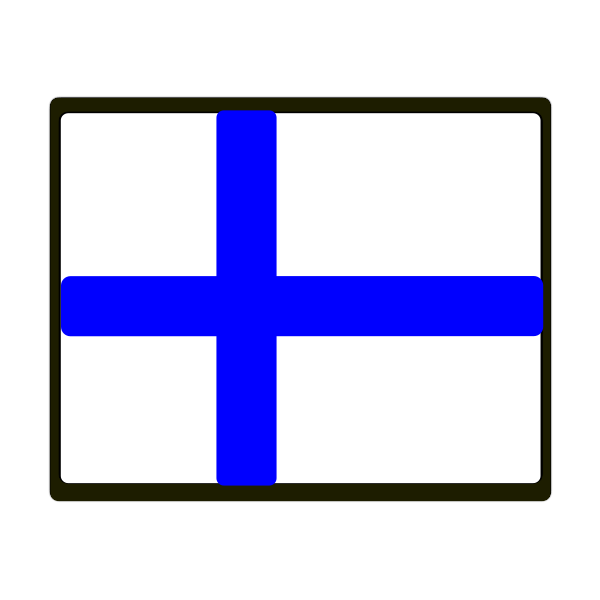 Finnish vector flag