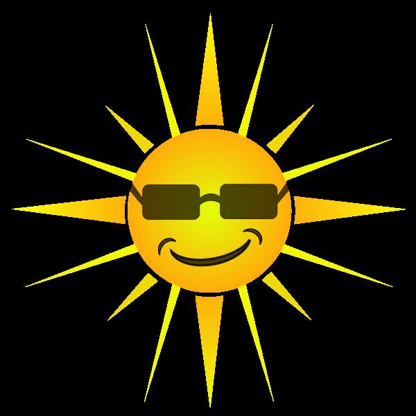 Cool happy Sun vector image