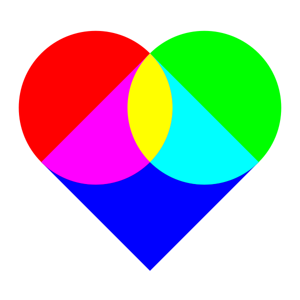 Vector image of multicolored heart