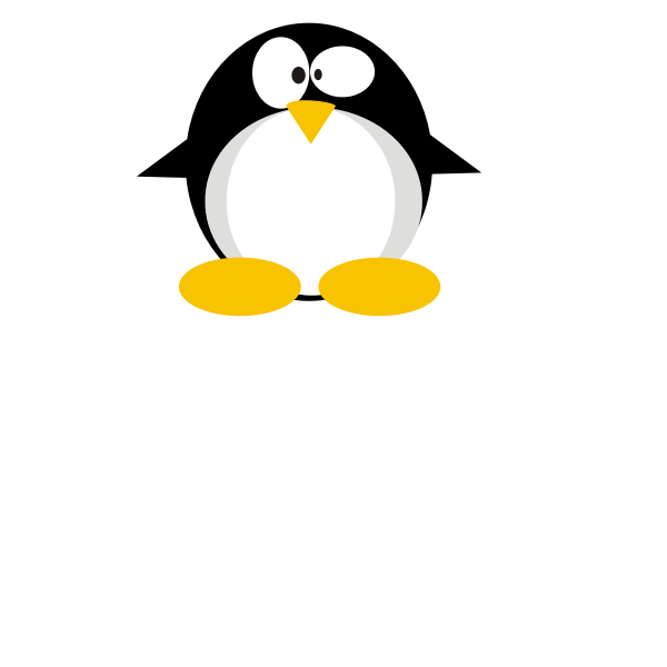 Confused Tux vector image
