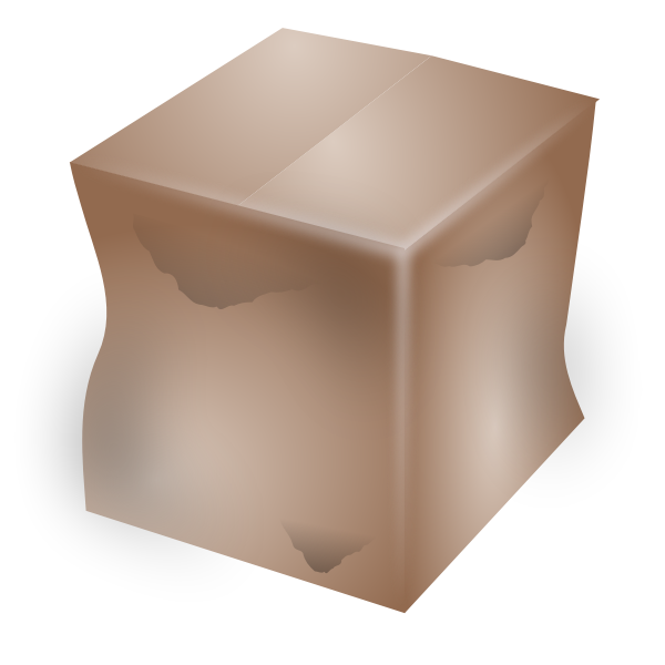 Vector image of dirty cardboard box