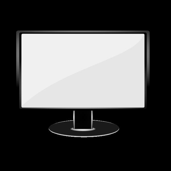 Gray LCD monitor vector illustration
