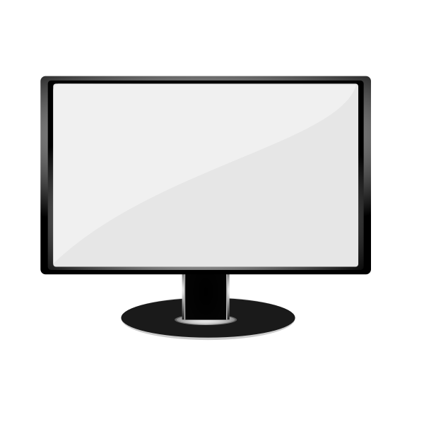 Gray LCD monitor vector illustration