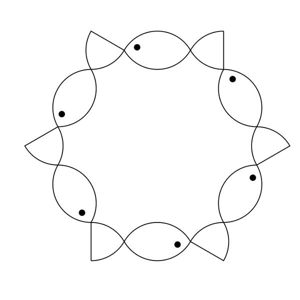 6 fish hexagon