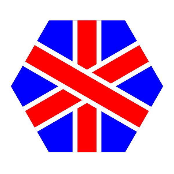 english hexagon