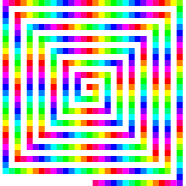12 color 480 square spiral