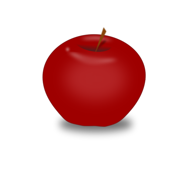 Vector graphics of red apple fruit icon