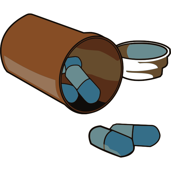 Vector image of spilled pills