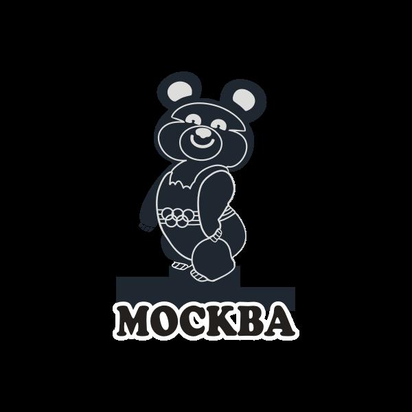 Vector image of mascot Misha