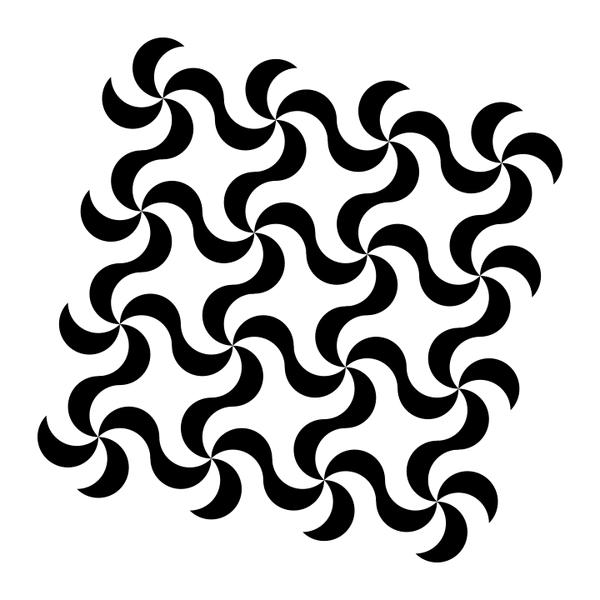 squarish swirly pattern