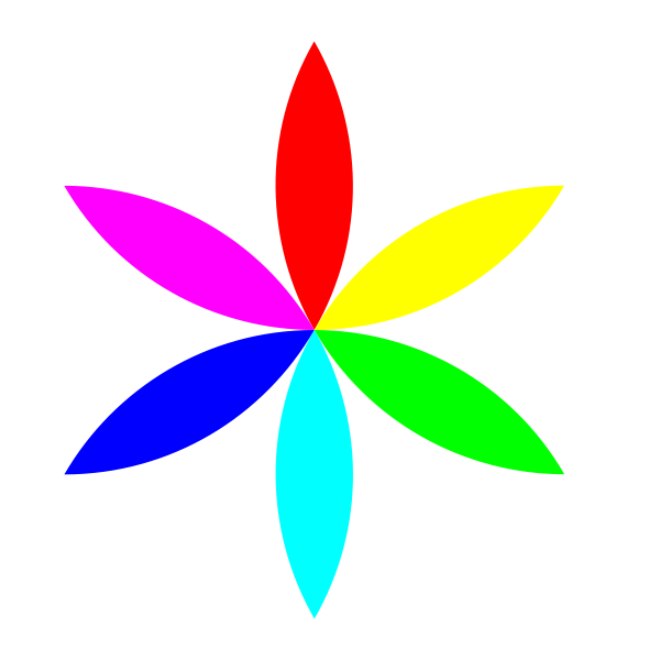 Digital colorful flower vector image