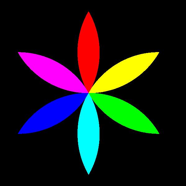 Digital colorful flower vector image