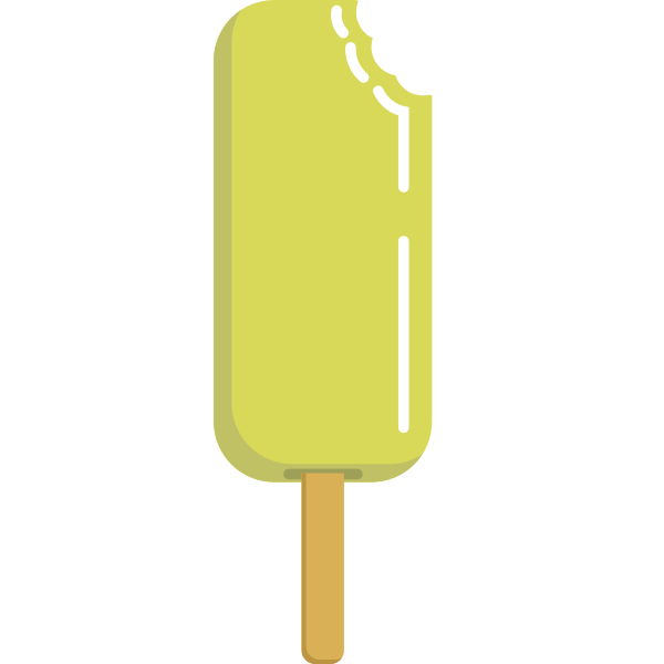 Lemon ice cream vector illustration
