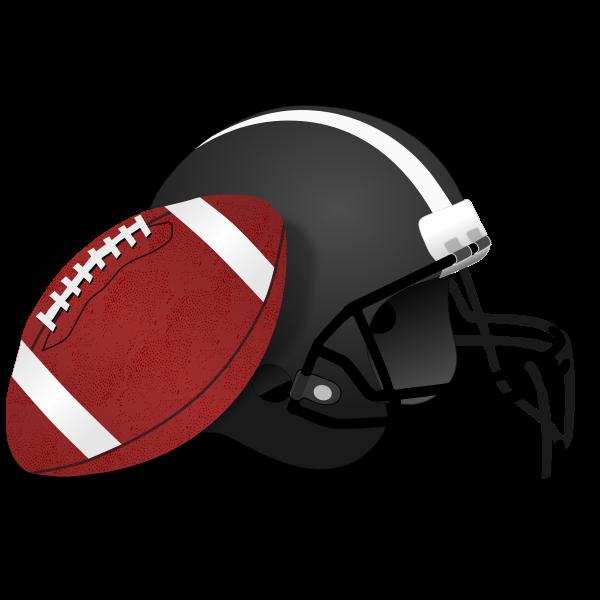Helmet and ball for American football vector clip art