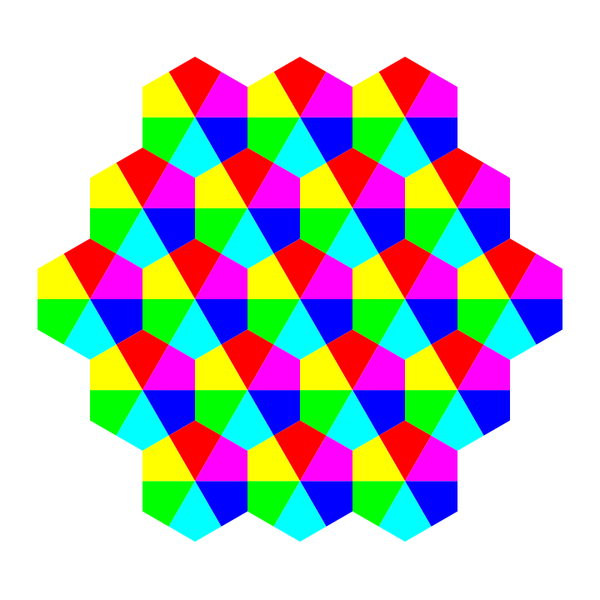 kite hexagons 6 color