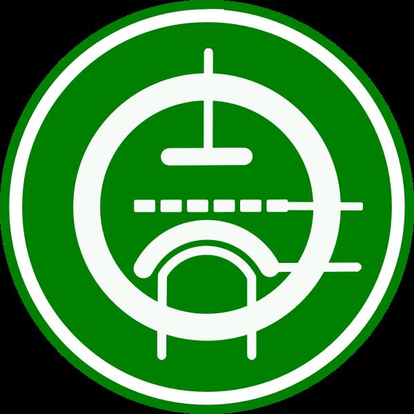 Triode circuit vector illustration