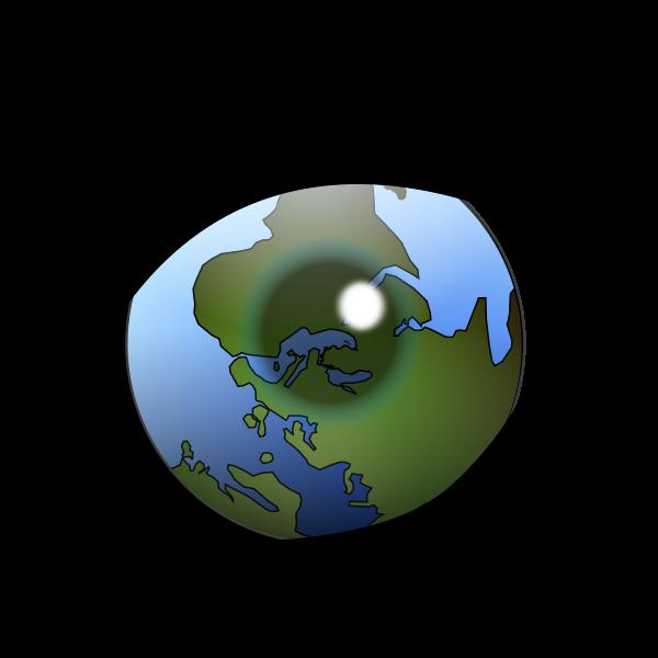 Alternative world vision vector image