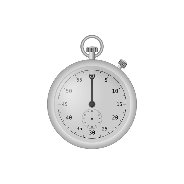 Vector drawing of stopwatch