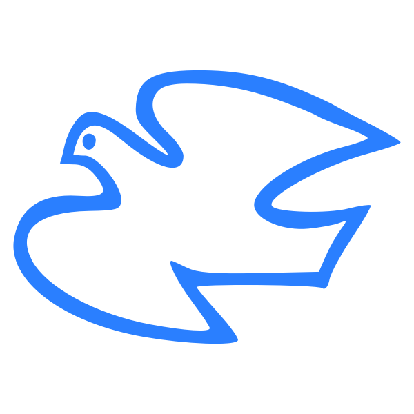 Flying dove vector illustration