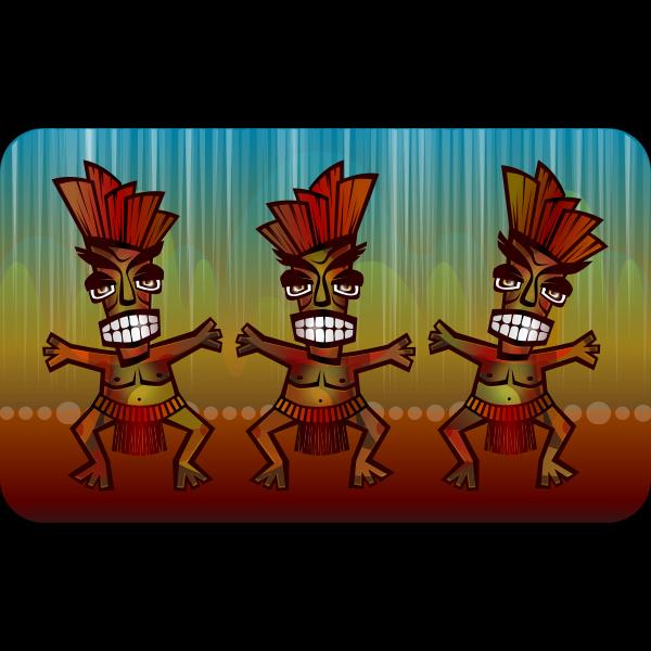 African dance vector image