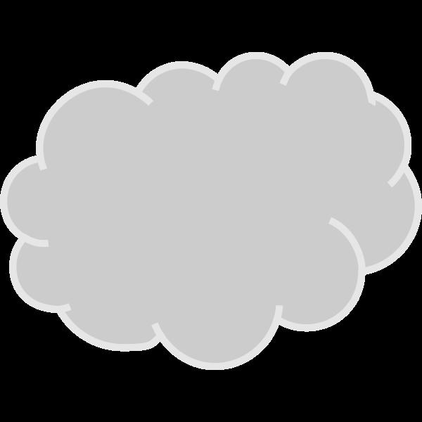 Gray Cloud Vector Graphics